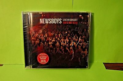 New/Sealed Newsboys Live In Concert God's Not Dead Cd! 15 Song Worship Cd!