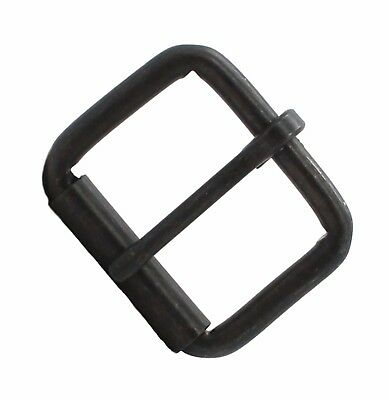 "Black Single Prong Roller Buckle 1-1/2"" 1418-13"