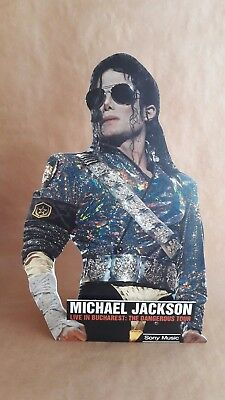 Michael Jackson  Live In Bucharest Cardboard Cutout Standing VERY RARE smile
