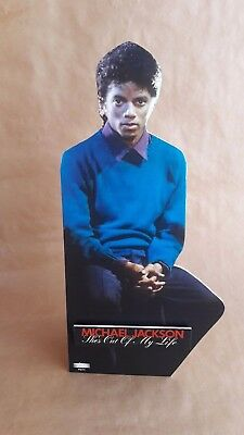 Michael Jackson  She's Out Of My Life Cardboard Cutout Standing VERY RARE smile