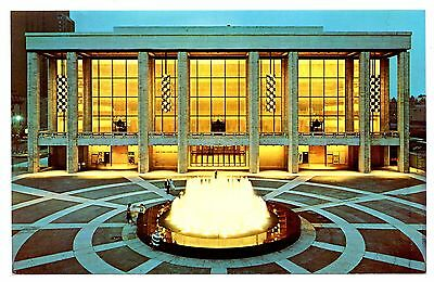 Lincoln Center Performing Arts Postcard New York State Theater Fountain 1964