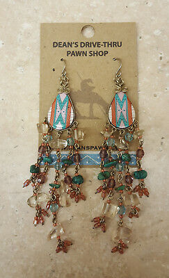 Nice Mint Condition Hand Crafted Long Beaded Native American Indian Earrings Set