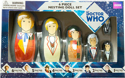 DOCTOR WHO - 6 Piece Nesting Doll Set (Doctors 6th / 1st) by Ikon Collectables