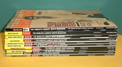 Lot of 11 MEN'S HEALTH Back Issue Magazines  2005, 2006, 2009, 2010 2012