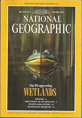 NATIONAL GEOGRAPHIC MAGAZINE Vol. 182 No.4 October 1992 + Double Sided Insert