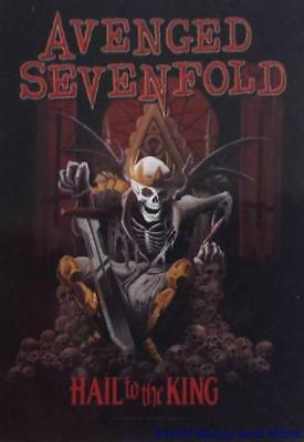 """AVENGED SEVENFOLD Rock flag/ Tapestry/ Fabric Poster   """"Hail To The King""""  NEW"""