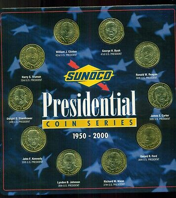 Sunoco Presidential Coin Series Lot-Two Sets,32 Duplicates & Marketing Bulletin