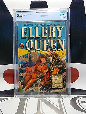 ELLERY QUEEN #3 (1949) CBCS 3.5 Lingerie Panels Good Girl Cover Superior