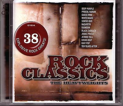 2 CD (NEU!) ROCK CLASSICS (dig.rem Paranoid Smoke on the Water Black Betty mkmbh