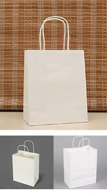 Recycled 50 Retail Shopping Kraft Paper Gift Bags With Handles Bag 10 x 5 x 13