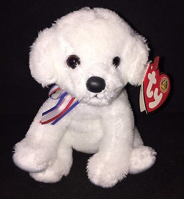 TY Fireworks The Dog - Beanie Baby - Mint with Mint Tag - Retired BBOM MWMT