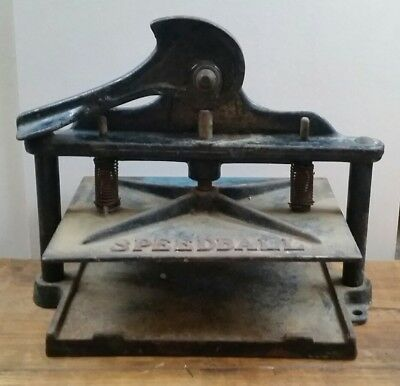 Rare Antique Speedball Block Printing Press Early Model made of metal USA 1930's