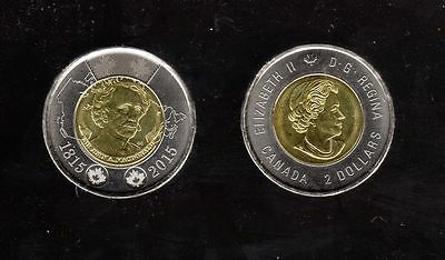 Canada 2015 Sir John A. Macdonald Design Twoonie (2$) From The Roll