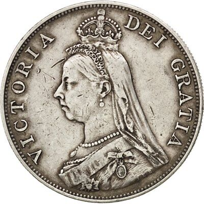 [#28340] GREAT BRITAIN, Double Florin, 1887, KM #763, EF(40-45), Silver, 22.53