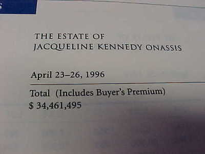 Orig 1996 ESTATE of JACQUELINE KENNEDY ONASSIS Sothebys AUCTION CATALOG w Prices