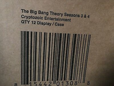 The Big Bang Theory Season 3 & 4 Sealed Case Of Trading Cards Cryptozoic