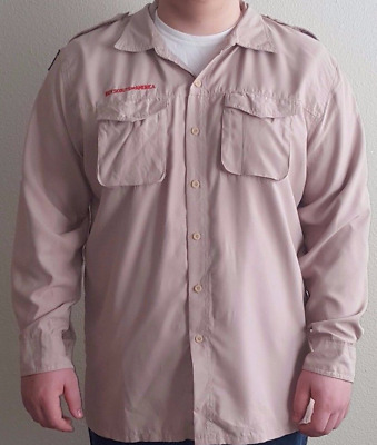 Boy Scouts of America MEN's BSA Long Sleeve Vented Shirt 2XL 3XL 4XL