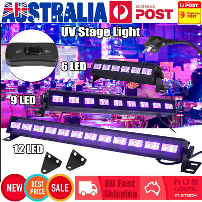 6/9/12 LED UV Wall Wash Black Light Bar DJ Disco Club Party Stage  Xmas Lighting