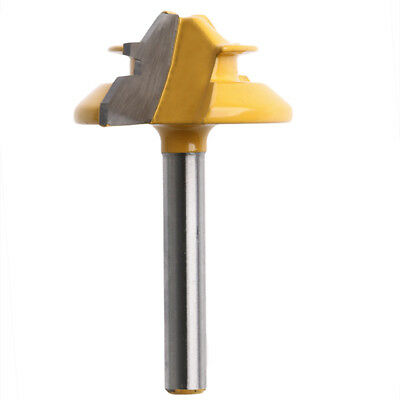 "45 Degree 1/2"" Stock 1/4"" Shank Small Lock Miter Router Bit"