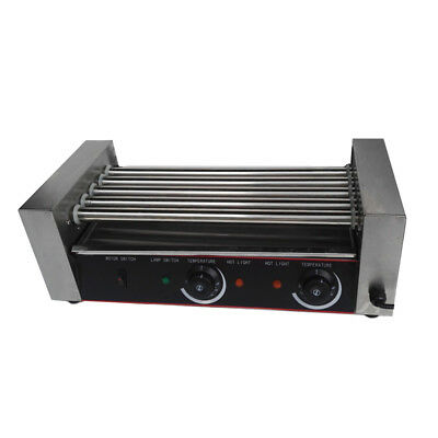 New Commercial 12 Hot Dog 5 Roller Hotdog Grill Cooker Kitchen Machine