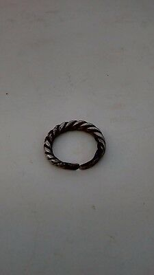 Rare Ancient Viking Silver rope twist ring 8- 10 century AD(weight 4.07 gr)