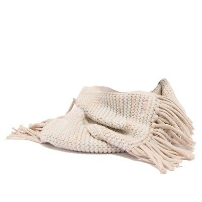 4767U sciarpa bimba CHLOE' beige/light blue scarf kid girl