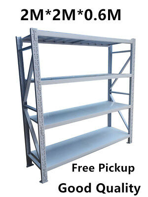 NEW 2Mx2M 800Kgs!! Garage Warehouse Steel Storage Shelving Shelves Racking