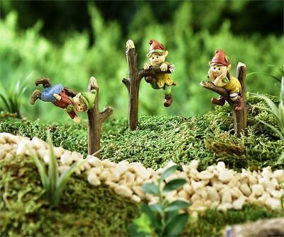 Miniature Dollhouse Fairy Garden Elves on Branches - Set of 3 - Buy 3 Save $5
