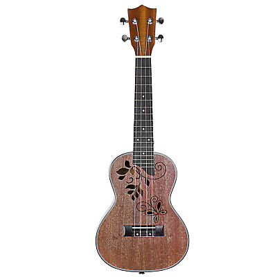 "Neewer Ukulele 23"" Marrone di Sapelli in Finitura Opaca con 4 Corde & 18 Tasti"