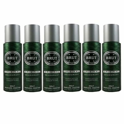 Brut Original 6 x 200ml Deodorant Deospray Deo Spray