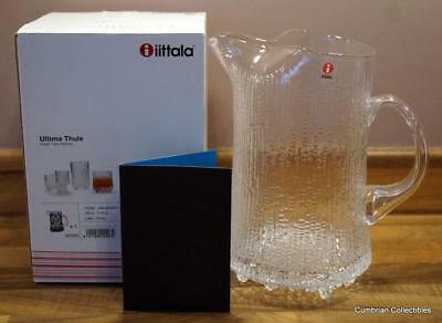 Beautiful Crystal 2.5 Pt Pitcher by Tapio Wirkkala for iittala - Perfect & Boxed