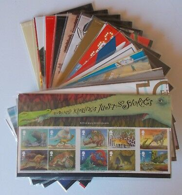2002 Royal Mail Commemorative Presentation Packs. Sold separately & as year set.