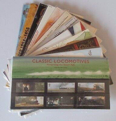 2004 Royal Mail Commemorative Presentation Packs. Sold separately & as year set.