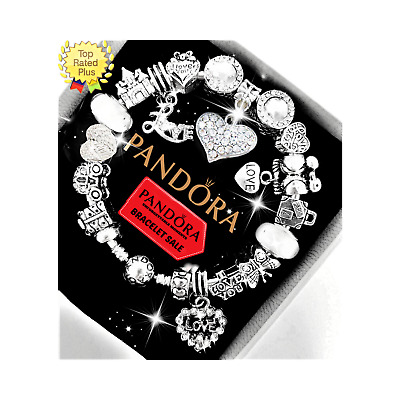 Authentic Pandora Bracelet Silver with Heart Love Gift European Charms NIB