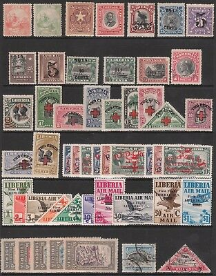 LIBERIA 1864 1892 1914 1915 1918-44 MINT USED STAMP COLLECTION + #7 #9 #145 #48b