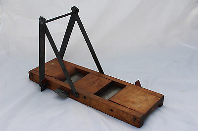 Antique Marque Et Modele Deposes French Wood and Steel Mandolin Slicer c1890s
