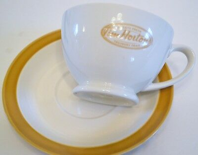 Tim Hortons Cup And Saucer -  Cream And Coffee Color -