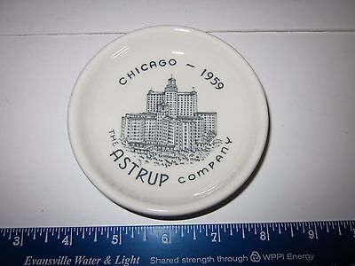 Vtg Walker China Butter Pat Restaurant Ware Advertising 1959 Chicago, Il Hotel