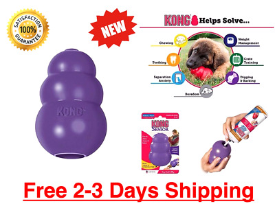 KONG Dogs Classic Rubber Chew Toy World's Best Dog Stuffing Treat Medium