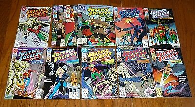 Lot of 15 Justice Society of America # 1-8+ 1-7  DC Comics, 1991-93  HIGH GRADE