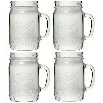 Ball Drinking Mason Wide Mouth Mug Jars 24 Ounce 4 Pack
