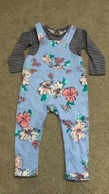 Joules Girls Dungaree Set 18-24 Months *New*