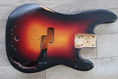70's Fender 3 color sunburst Bass Body USA vintage Precision 74 75 76 77 78