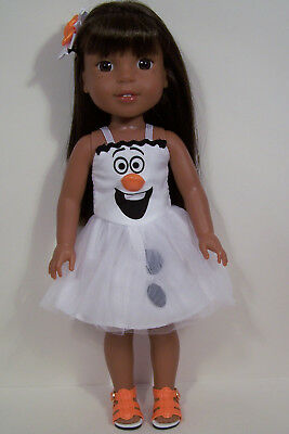 "Frozen's Olaf Snowman Dress Doll Clothes For 14"" AG Wellie Wisher Wishers (Debs)"