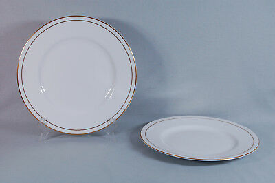 "2 Vintage Royal Worcester Bone China ""Contessa"" 10-5/8"" Dinner Plates - England"