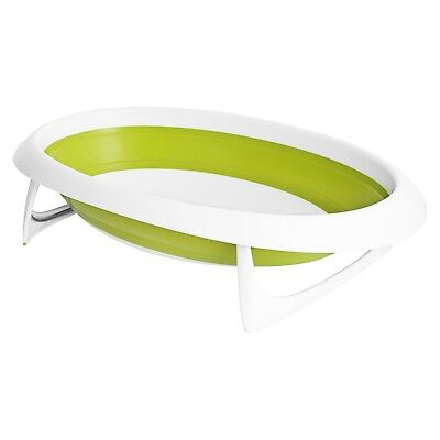 Boon Naked Collapsible Baby Bathtub Green,Green/White