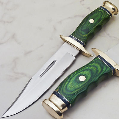 CUSTOM HAND MADE FORGED STAINLESS STEEL HUNTING KNIFE  Hardwood Handle, Sheath