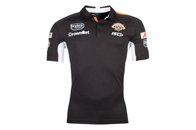 Wests Tigers NRL 2018 Players ISC Black Polo Shirt Sizes S-5XL! In Stock!