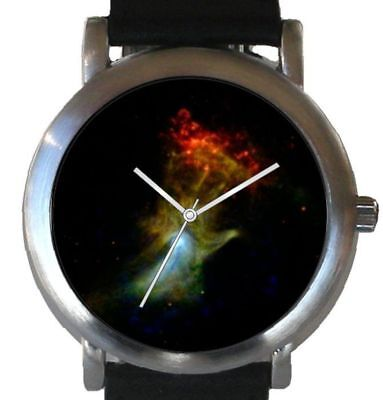 """""""Hand of God"""" Is the Hubble Image On The Dial Of The Brushed Chrome Unisex Watch"""