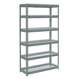 "Extra Heavy Duty Shelving 48""W x 24""D x 84""H With 6 Shelves, Wire Deck"
